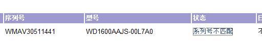 [原创]警惕 WD 640G SATA2 8M(WD6400AVVS)