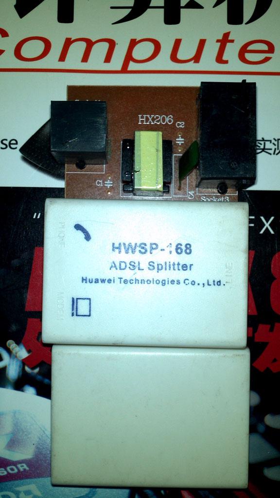 [拆解]华为HWSP-168 ADSL分离器