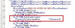 telecomadmin password